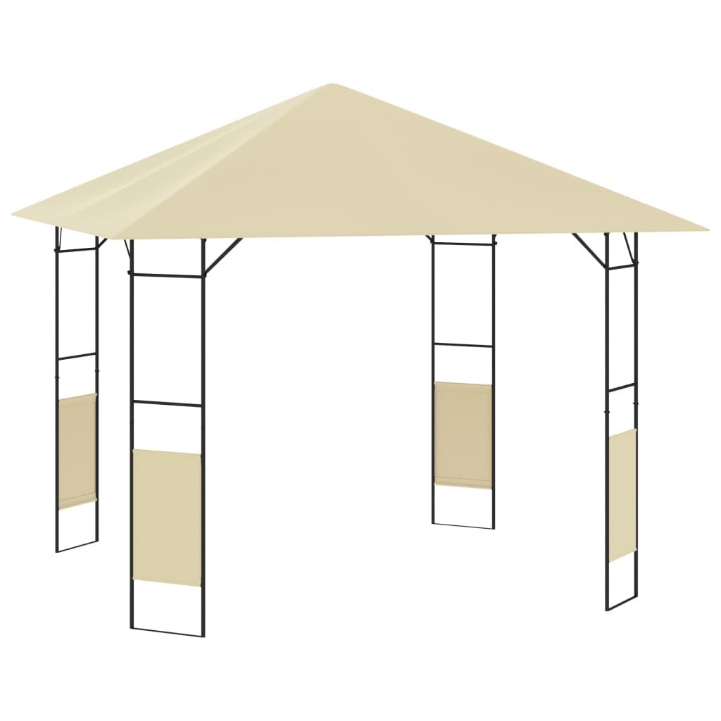 vidaXL Garden Gazebo 3x3x2.6 m Cream 160g/m²