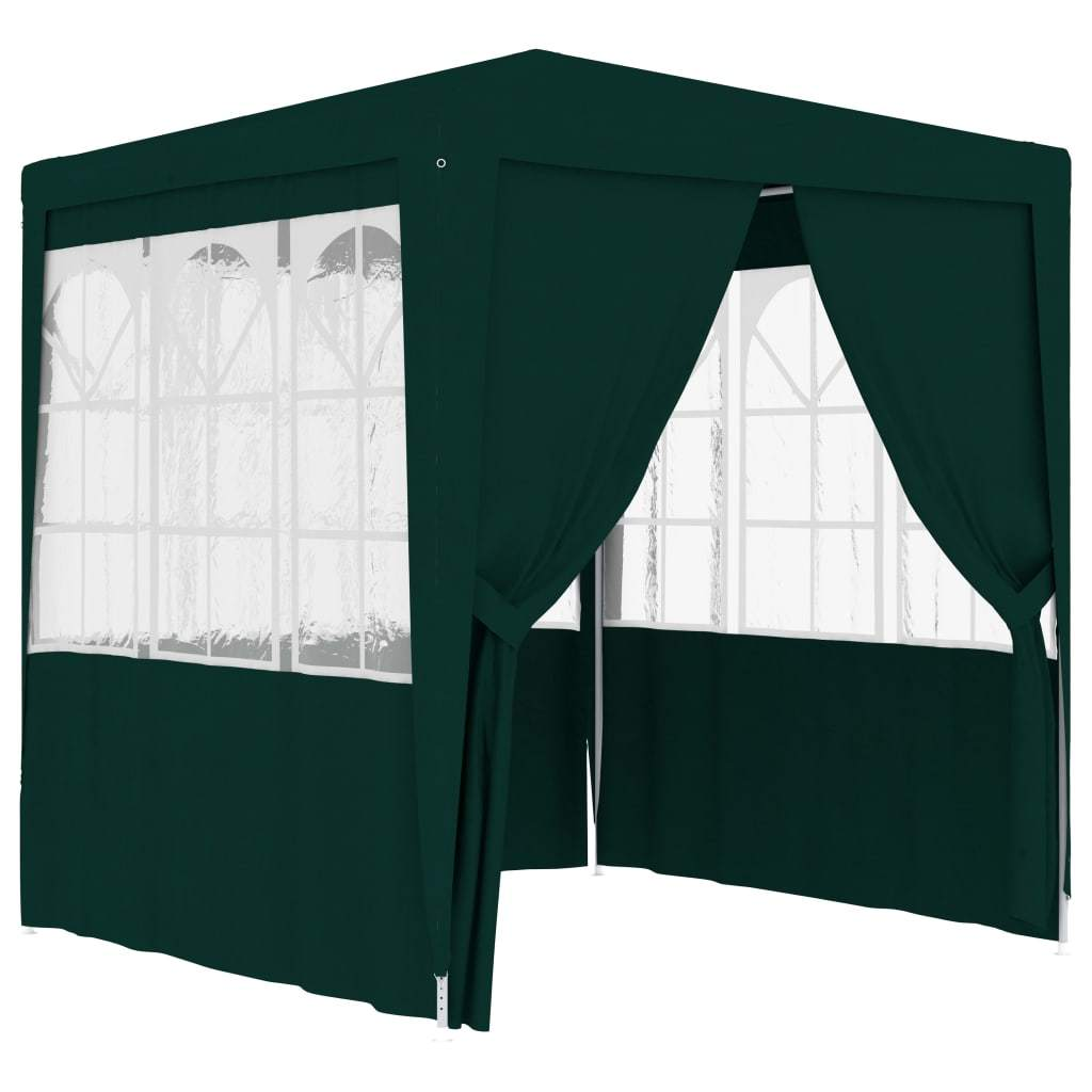 vidaXL Professional Party Tent with Side Walls 2.5x2.5 m Green 90 g/m²