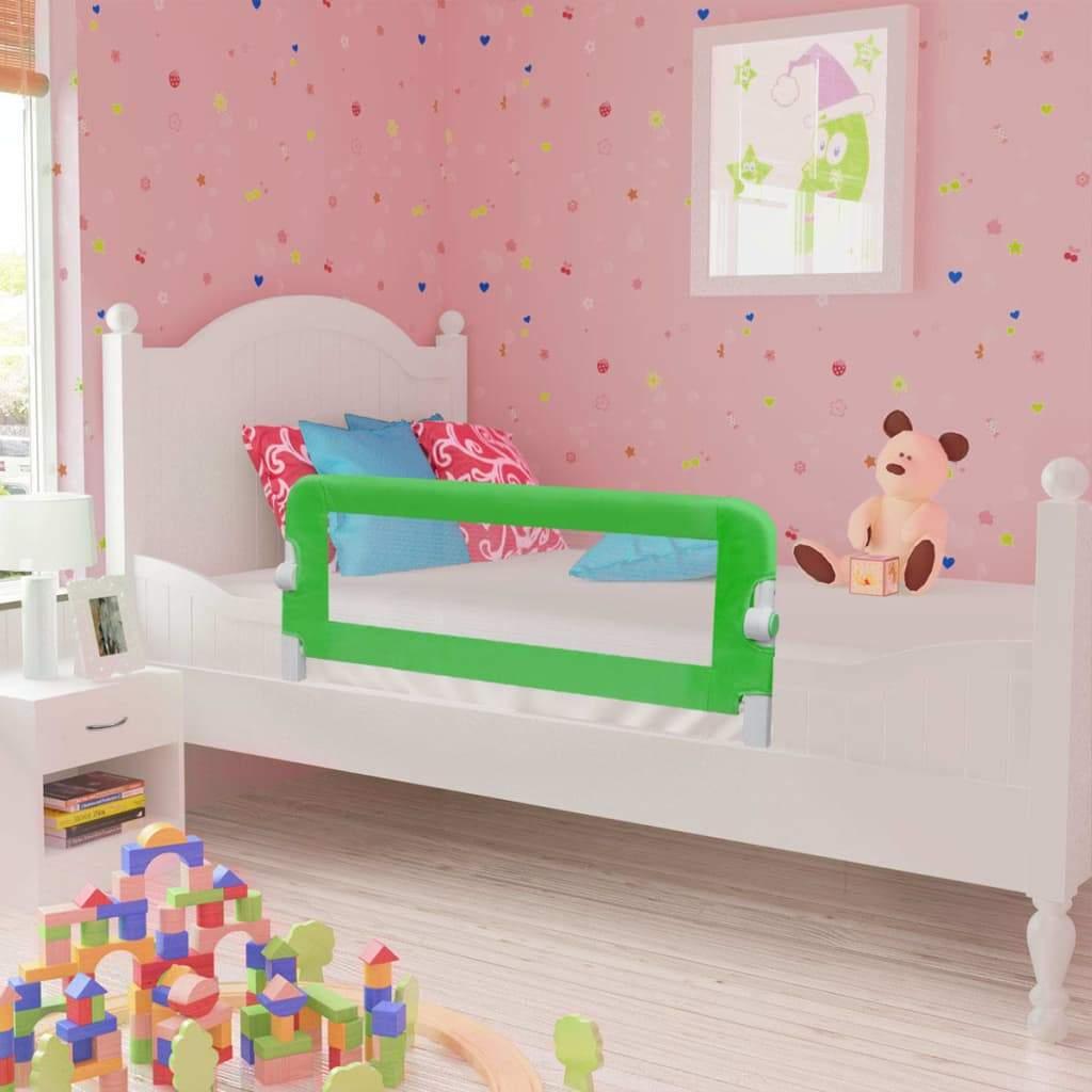 vidaXL Toddler Safety Bed Rail 2 pcs Green 102x42 cm
