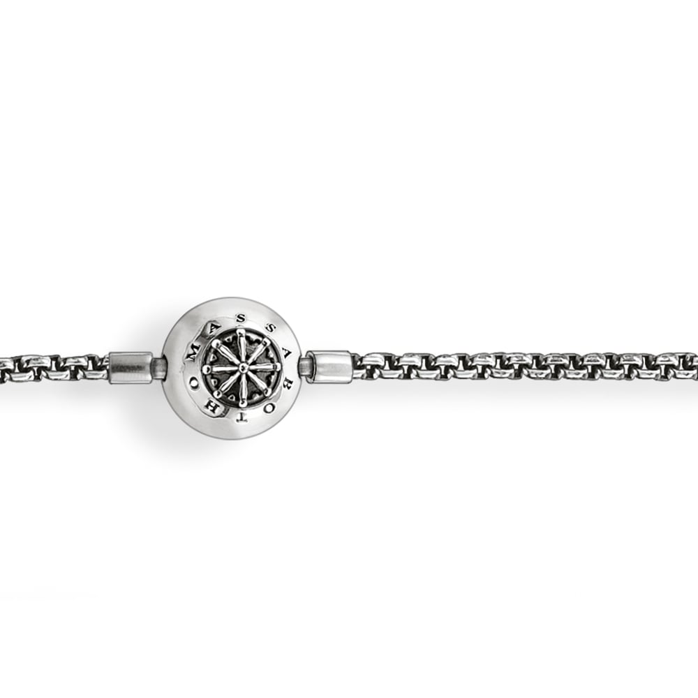 Silver Polished Karma Necklace 40cm
