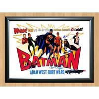 Batman 1966 Vintage Adam West Burt Ward Cast Signed Autographed Photo Poster Print Memorabilia