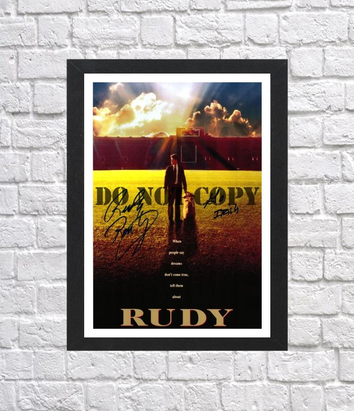 Rudy Ruettiger Cast Autographed Signed Photo Poster