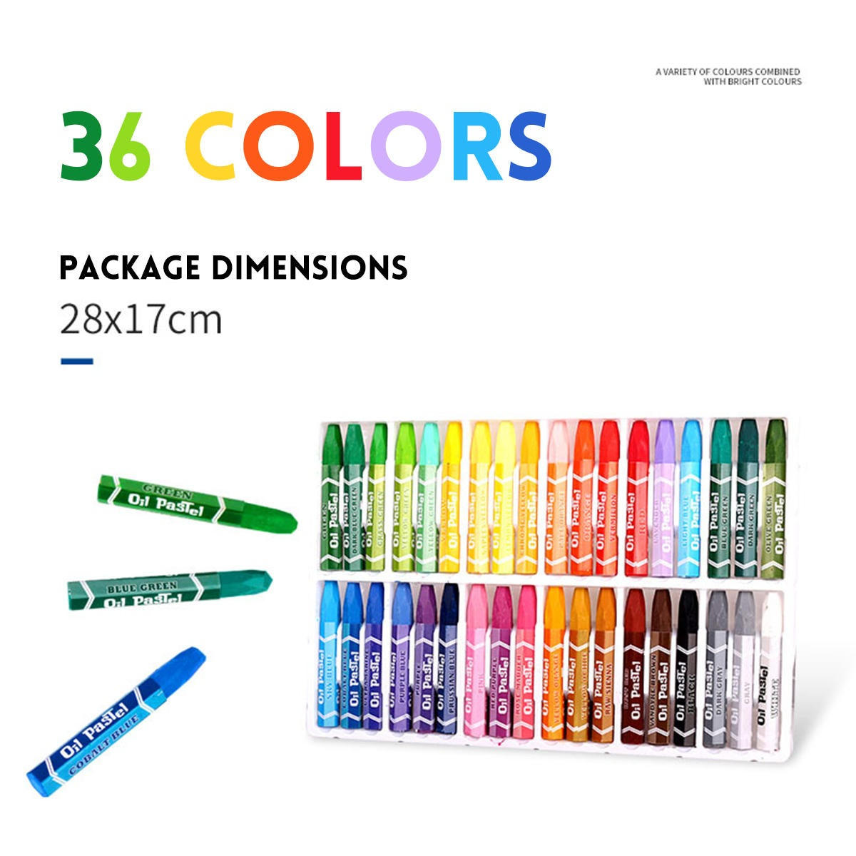 1 set 36 Colors Oil Pastels Non-Toxic Crayon Drawing Painting Pens Artists Students Art Supplies Gifts for Childrens