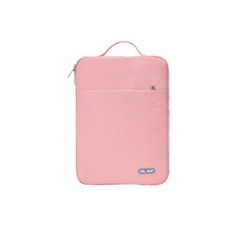 12-inch Waterproof Laptop Bag Wear-resistant Shockproof Portable Notebook Take-out Bag-3#-Pink