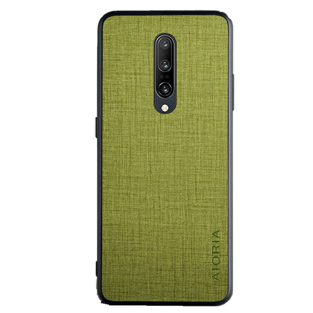 2PC Case for Oppo Realme 6 Case Cover Cross Pattern Design with PU+PU 2in1 Material