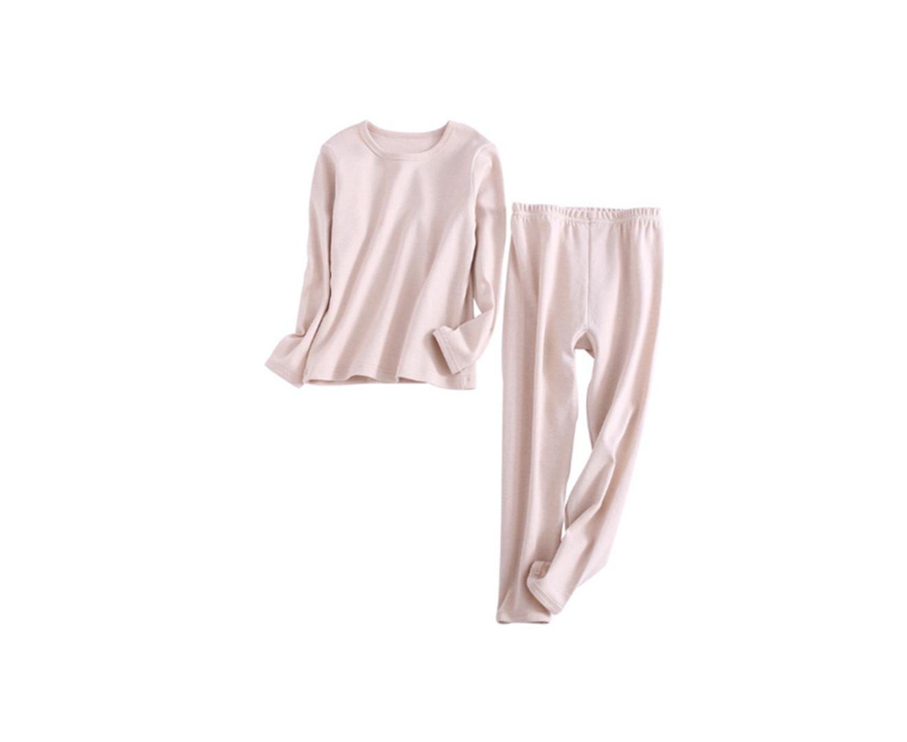 2PCS Unisex Underwear Suit Cotton Long Sleeve Suit - 1