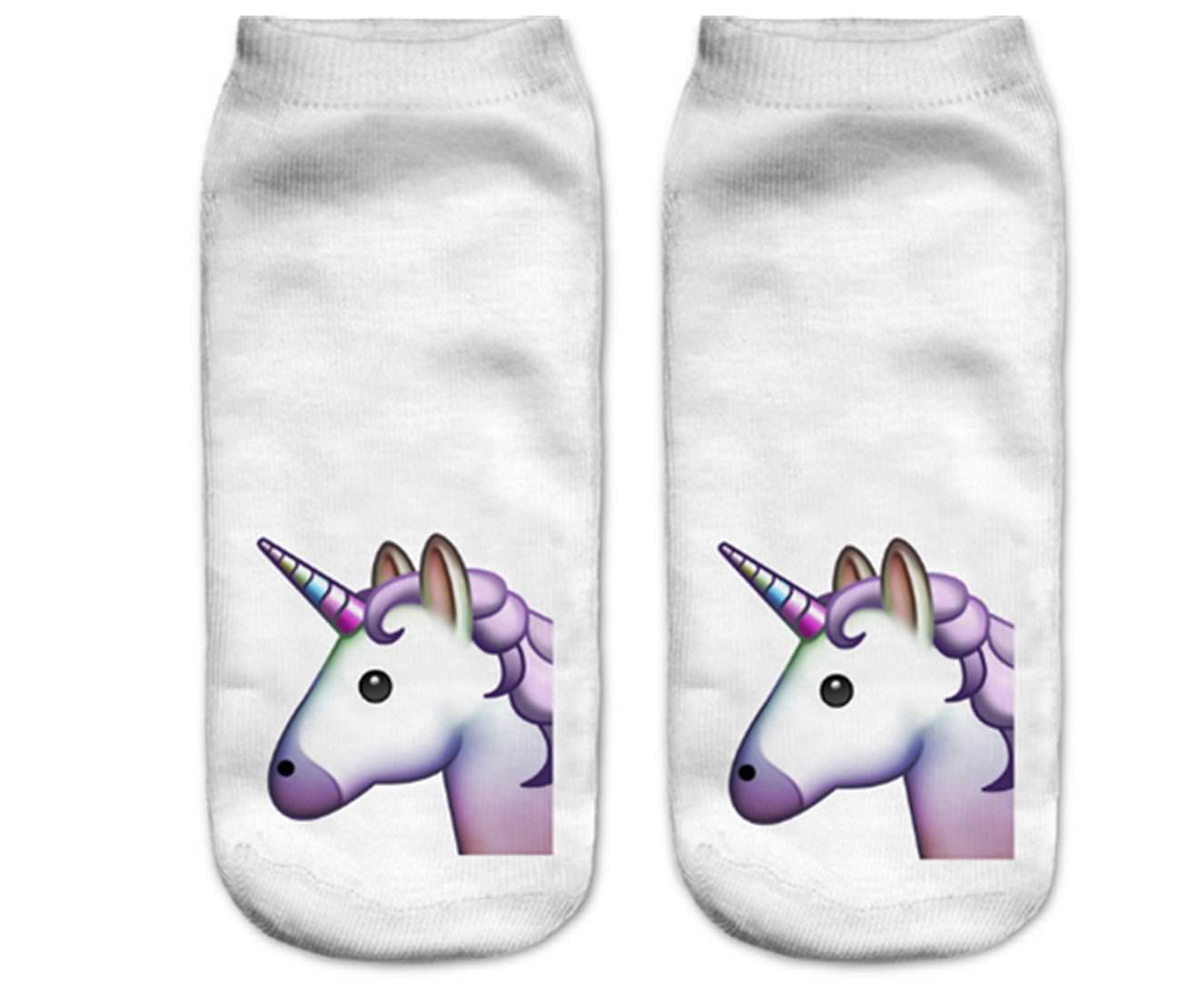 3PAIRS of 3D Cotton Funny Pattern Printed Short Socks for Unisex Adults Women