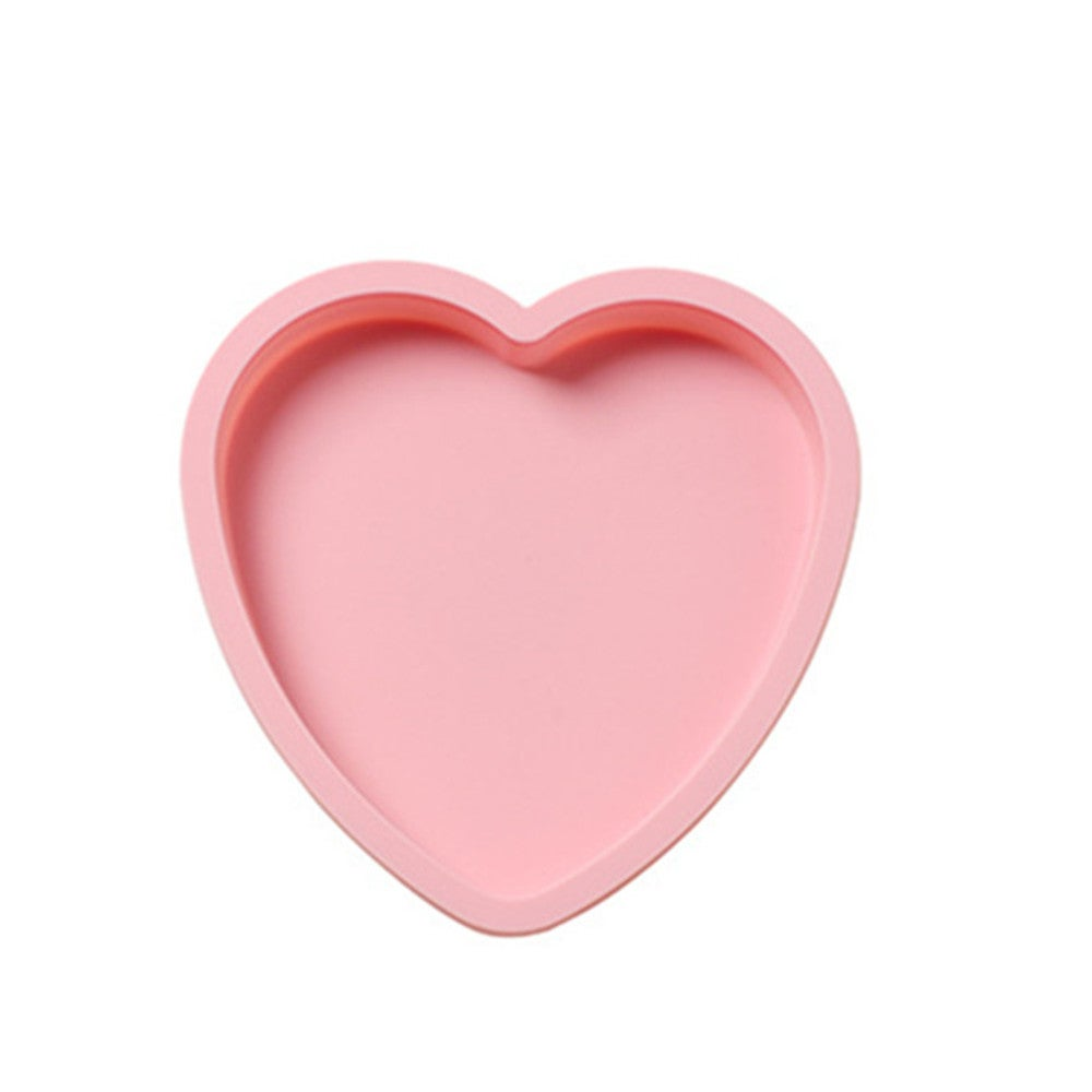 3Pcs 6 Inch Layered Rainbow Silicone Baking Pan Love Heart Cake Bread Mold Reusable DIY Kitchen Accessories Baking Tools