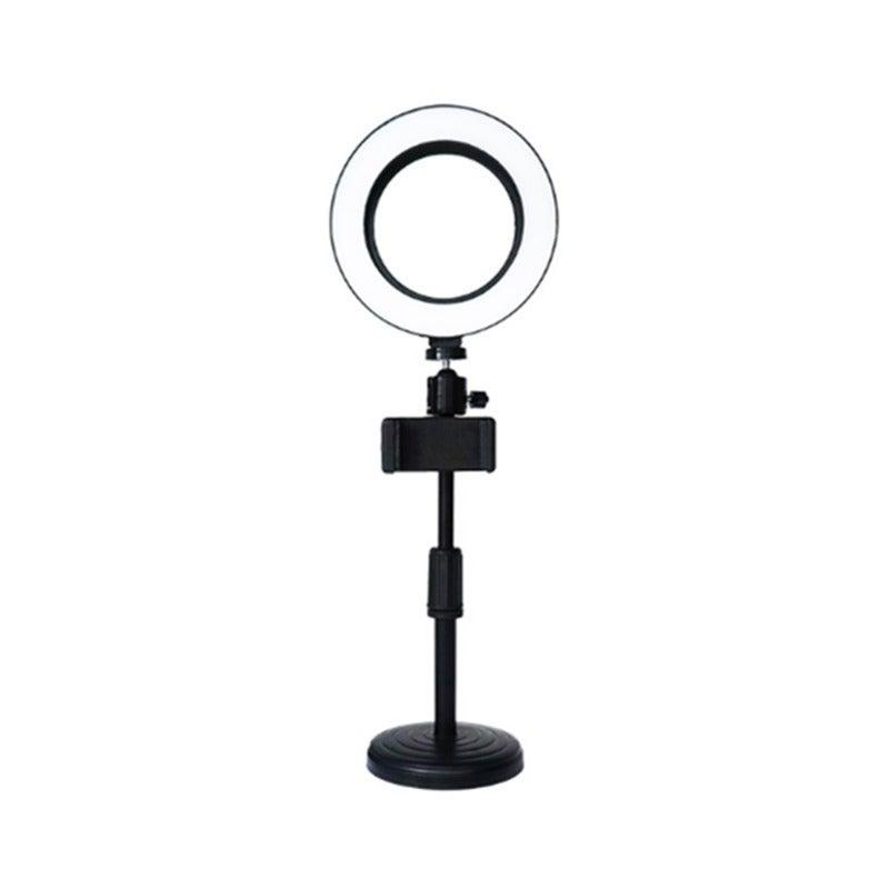6 Inch LED Ring Light Desktop Photography Fill Light with Mobile Phone Holder Beauty Fill Light