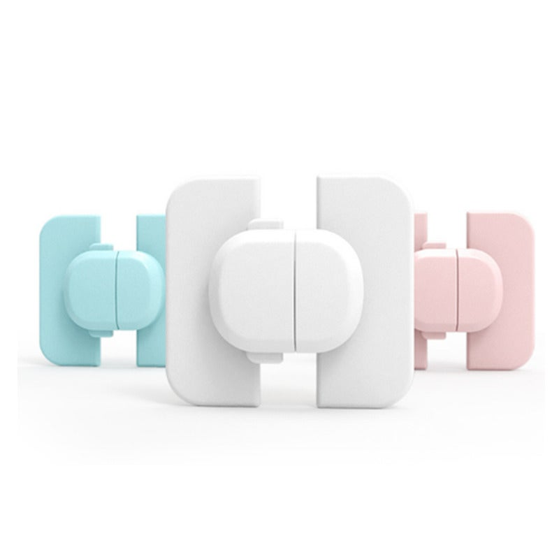 6PCS Baby Safety Lock Cabinet Door Lock Cabinet Door Lock Baby Quartet Safety Lock Mother and Baby Supplies Anti-accident