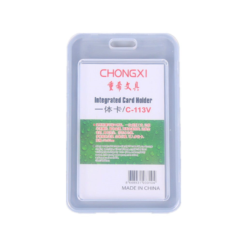 7x11.2cm Vertical Work Card Holder Transparent Plastic Staff Pass Access ID Card Case Bus Nurse Doctor Employee's Card Sleeve
