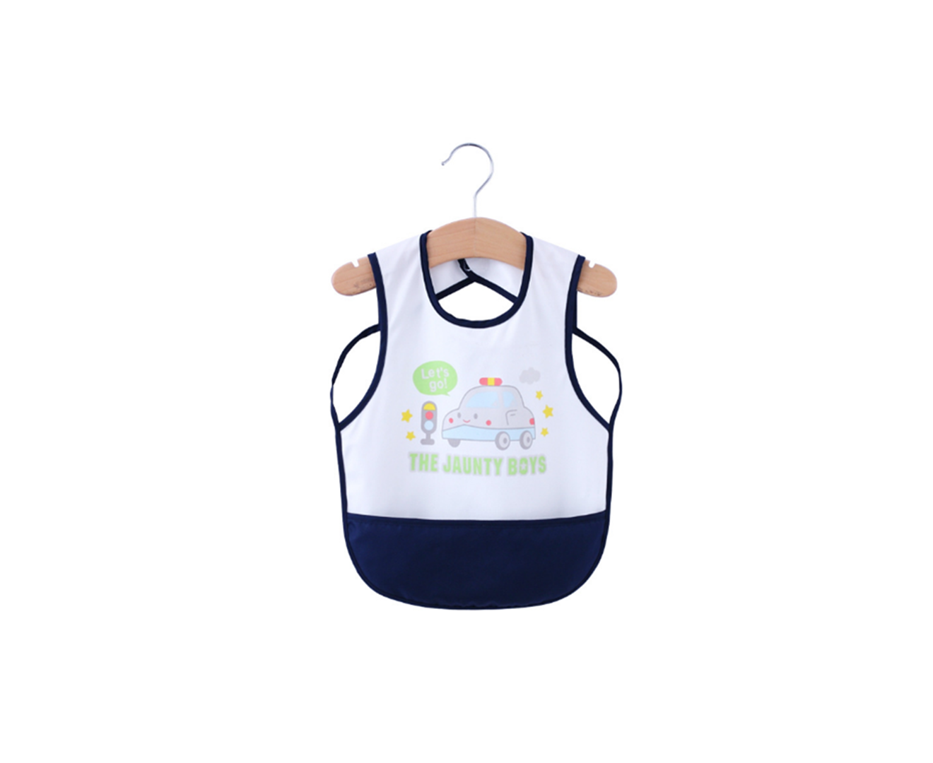 Baby Bibs Waterproof And Wipeable-Eat And Play Smock Apron - Navy