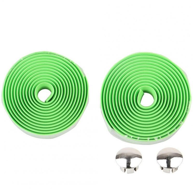 Bicycle Handlebar Tape Steering Wheel Cover Road Bike Cycling Handle Non-slip Belt Rubber Tape Bike Accessories green