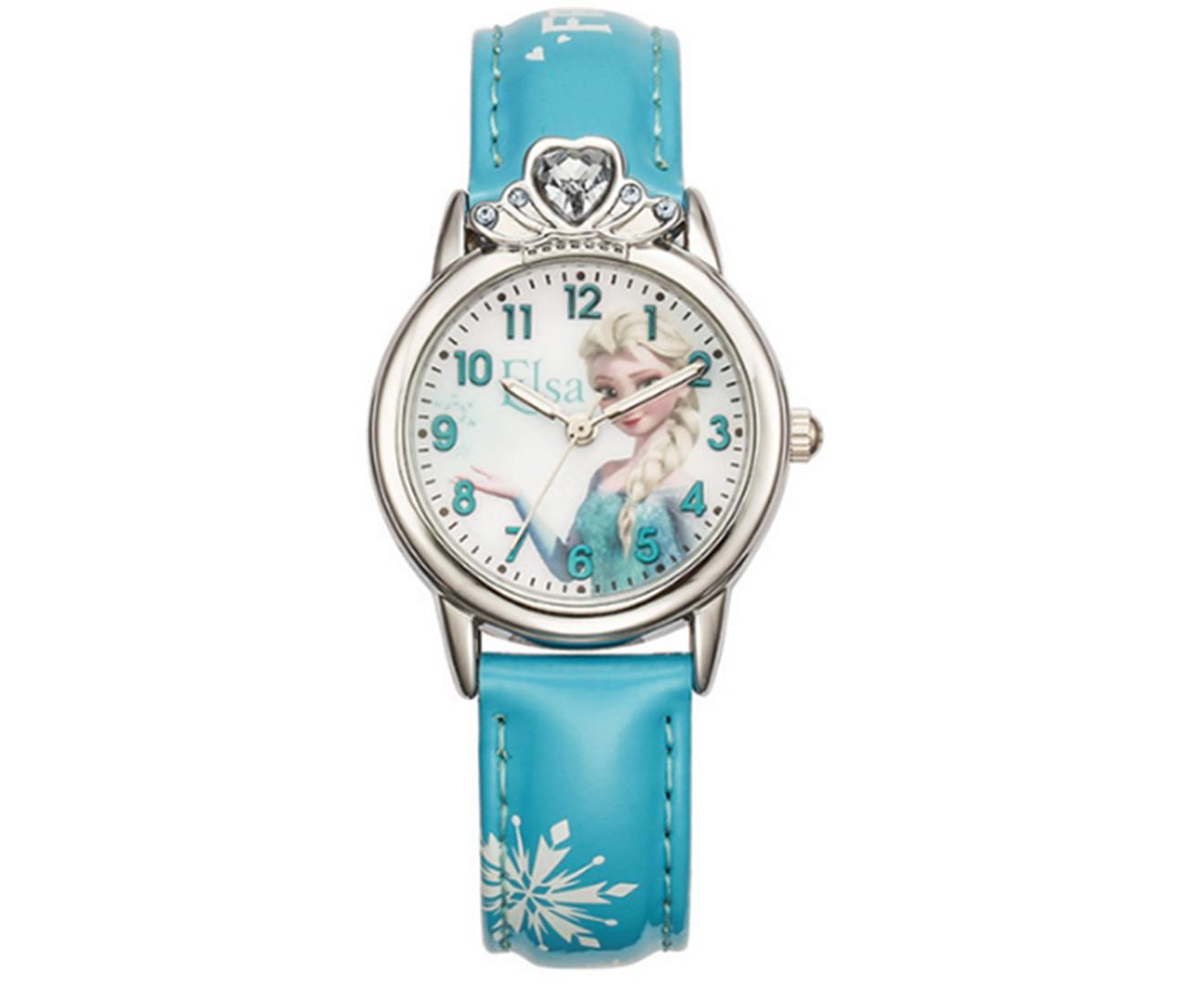 Creative Frozen Romance Watch Shiny Crown Princess Series Quartz Watch Suitable for Primary School Children-2