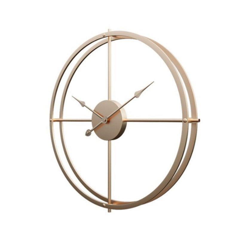 Creative Minimalist Iron Wall Clock Bedroom Living Room Metal Clock Study Study Decorative Clock-Gold Gold