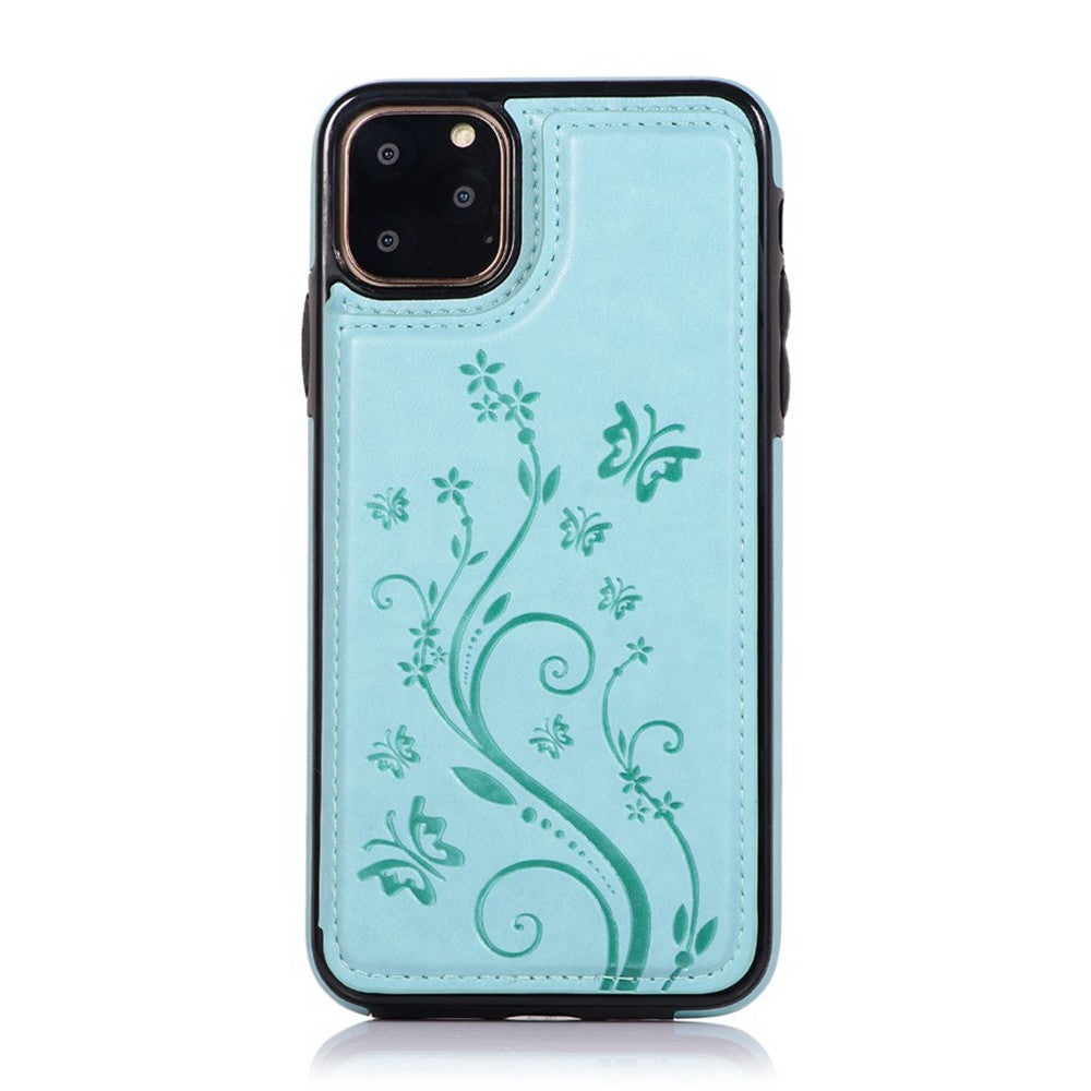 Fall Protection PU Leather Cover Case For IPhone XS Max Embossed Butterfly