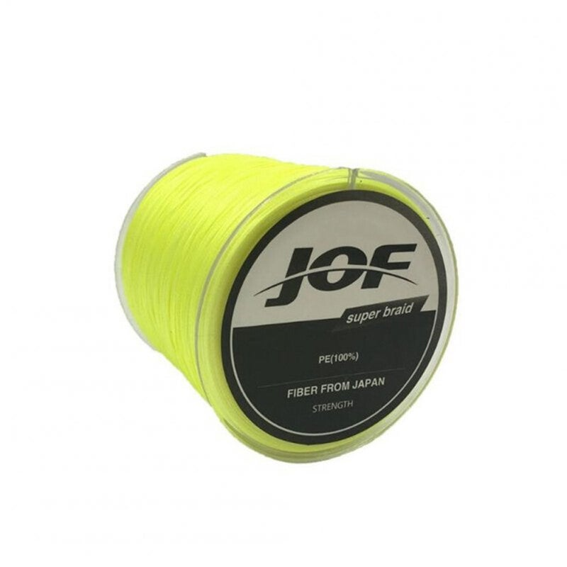 Fishing Line 8 Strands PE Braided 500 Meters Multifilament Fishing Line Rope Wire yellow_1.0