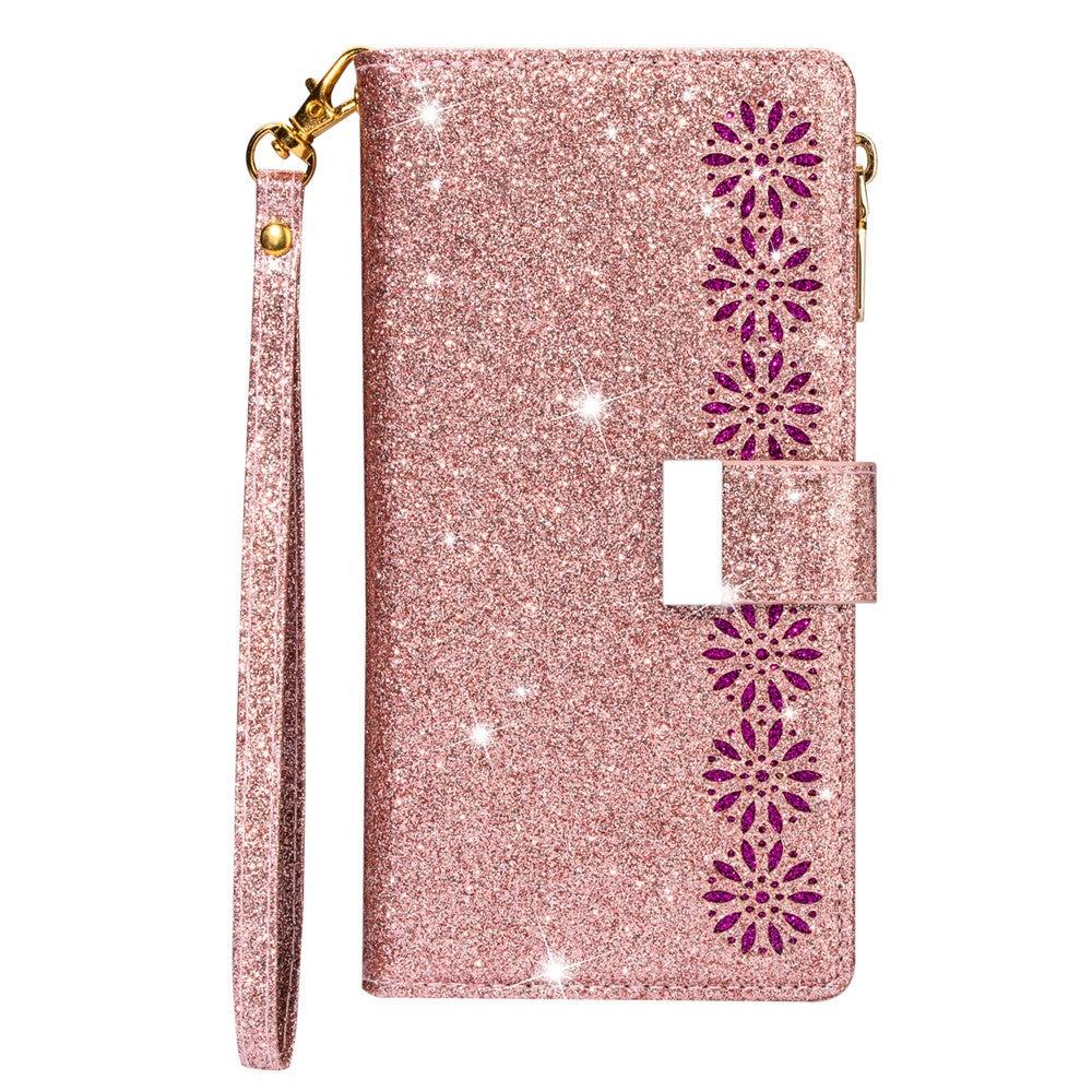 Flip Wallet Case for Xiaomi K30 Pro Glitter PU Leather Zipper Bag Cover