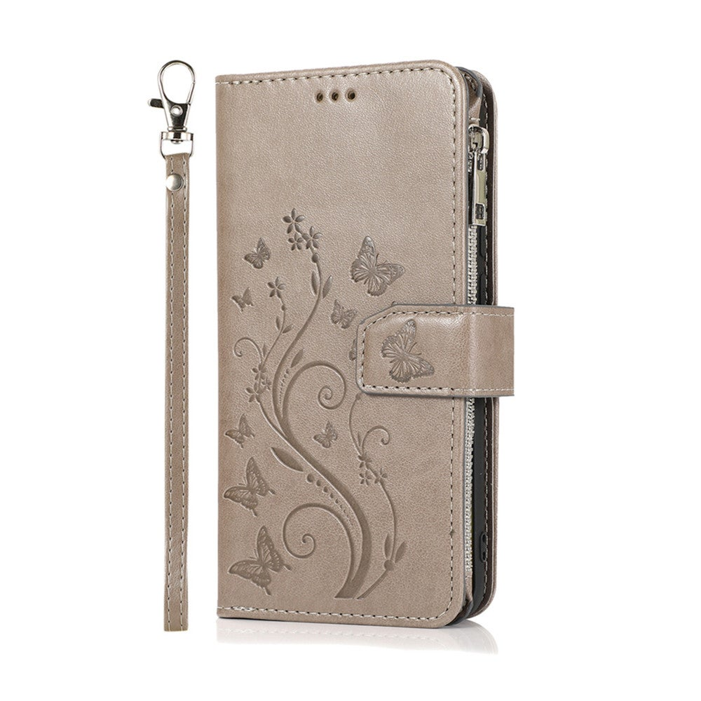 Luxury Zipper Flip PU Leather Wallet Case for Huawei P Smart Plus 2020 Cards Magnetic Phone Cover