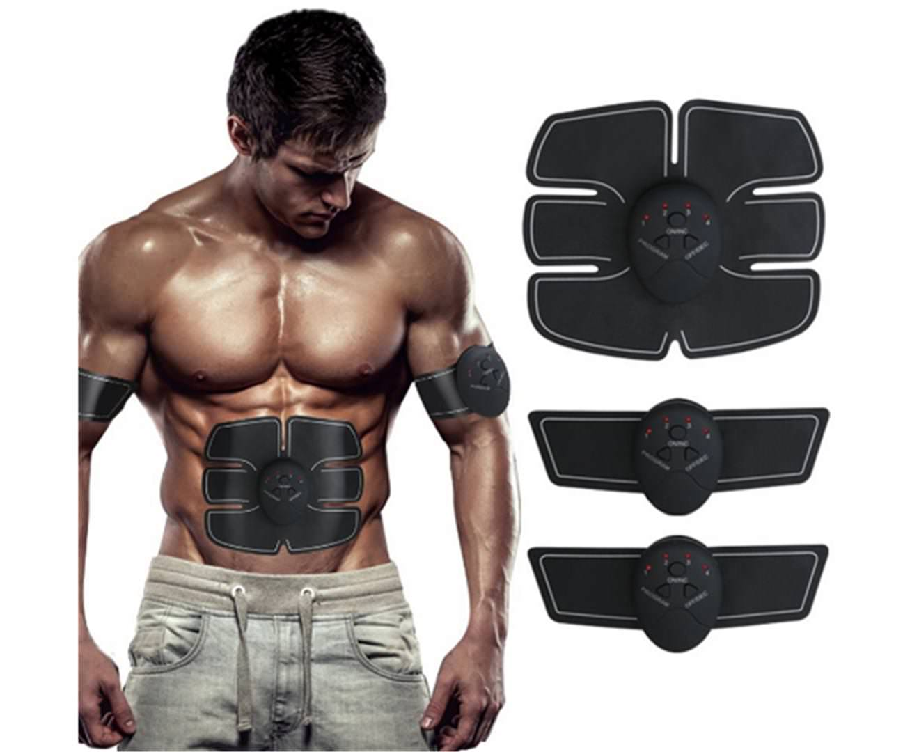 Muscle Trainer Wireless Body Gym Workout Fitness Equipment for Abdomen Training Men & Women
