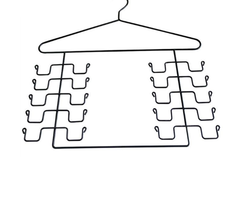 Pack Of 2 Magic Cloth Hanger Wonder Space Saving Hangers Metal Closet Organizer