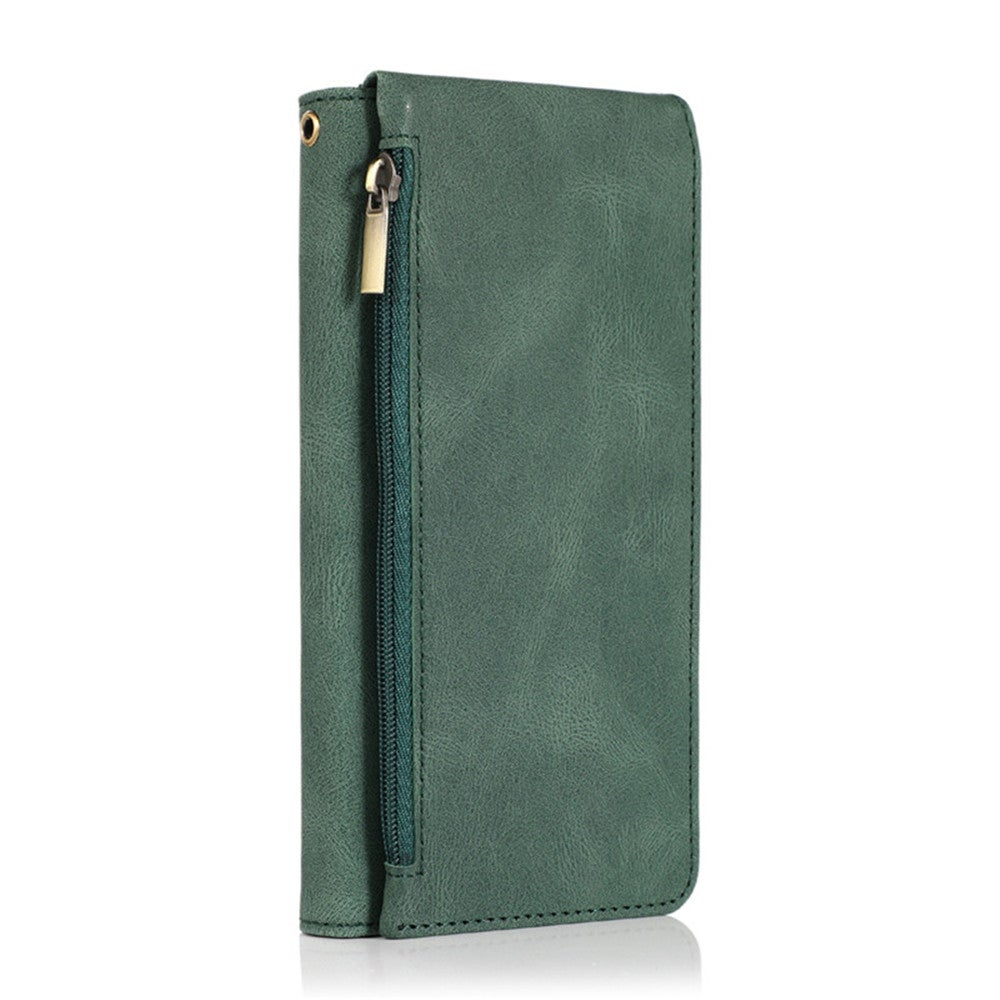 PU Leather Zipper Wallet Case for IPhone XR Flip Card Holder Stand Phone Bags Cover