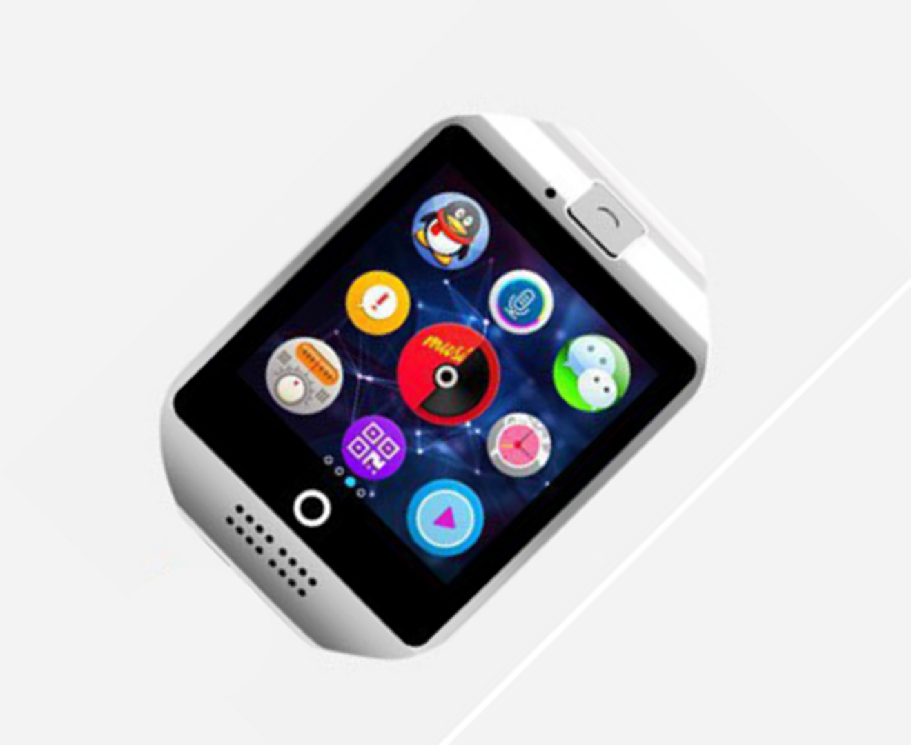 Smart Watch with Camera, Q18 Bluetooth Smartwatch with Sim Card Slot Fitness Activity Tracker Sport Watch for Android Smartphones-WHITE