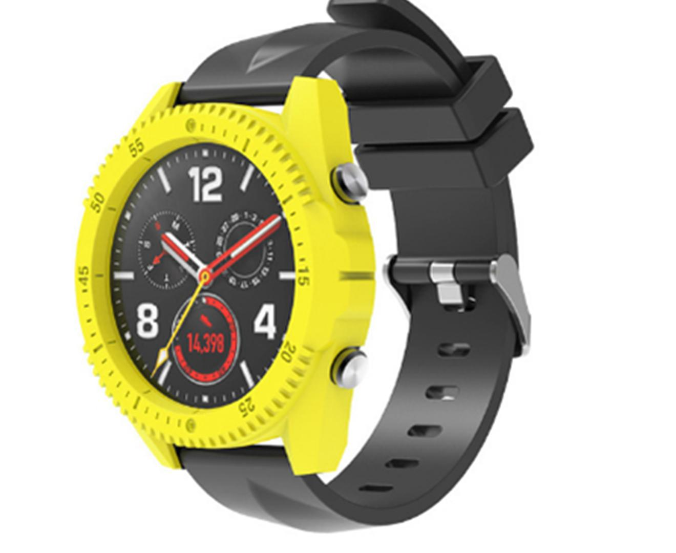 Unique Personality Multiple Color Choices PC Protective Case Cover Protector Frame for Huawei Watch GT-Yellow