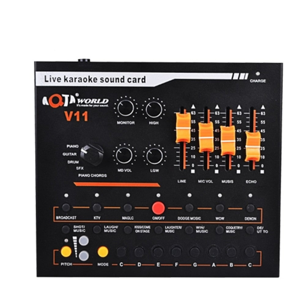 V11 Live Broadcasting Equipment Webcast Entertainment Streamer Music Synthesizer Tuning Sound Card