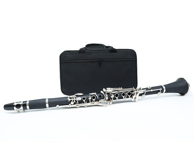 Clarinet Black Wood Finish Bb 17 Key with Soft Case