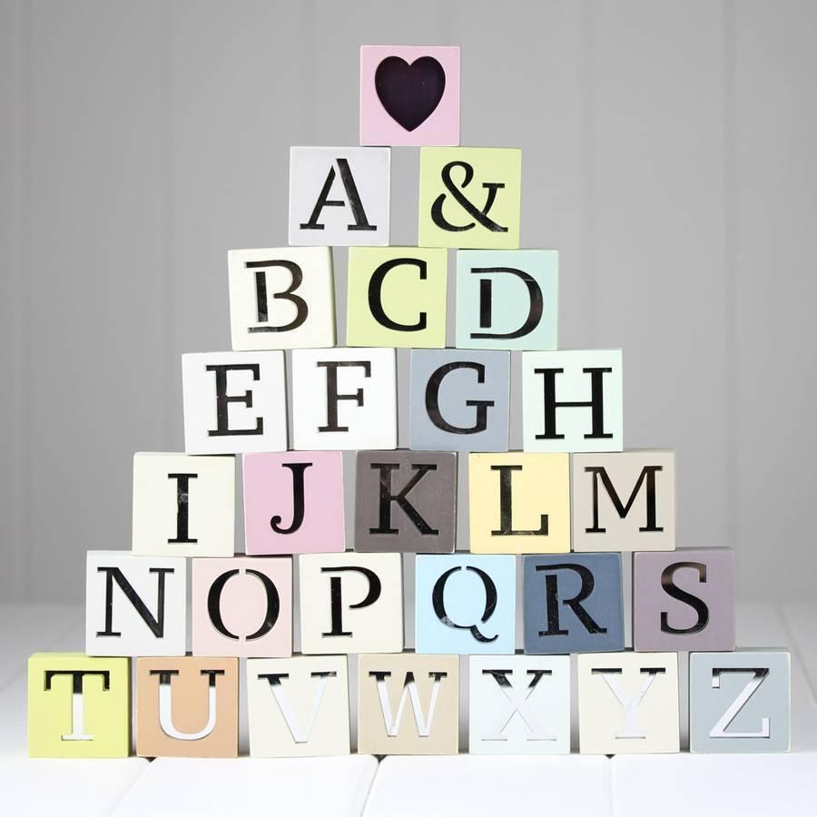 Alphabet Mirror Decor Letter Wood Block