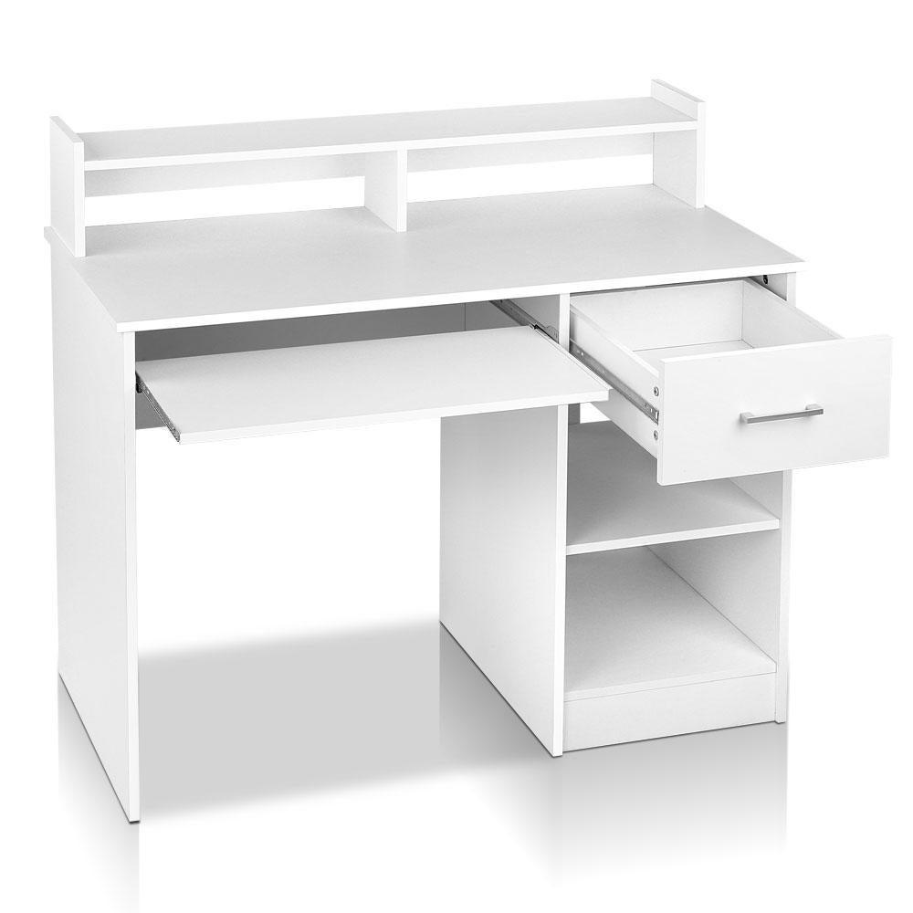 Artemis Office Computer Desk with Storage - White