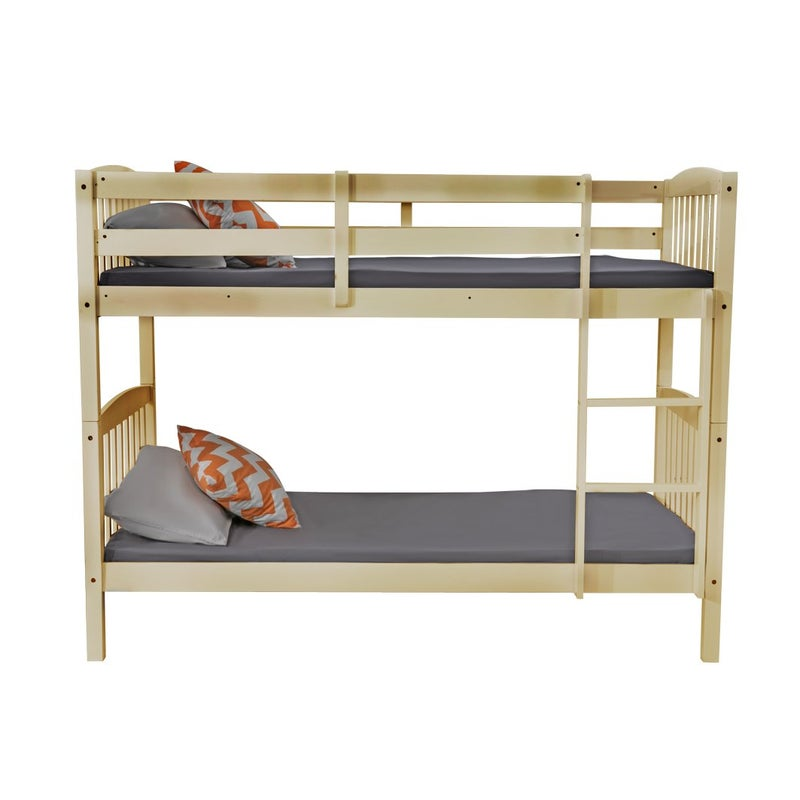 2 In 1 Solid Pine Single Timber Bunk Bed Frame Natural Buy Bunk Beds 704219599033