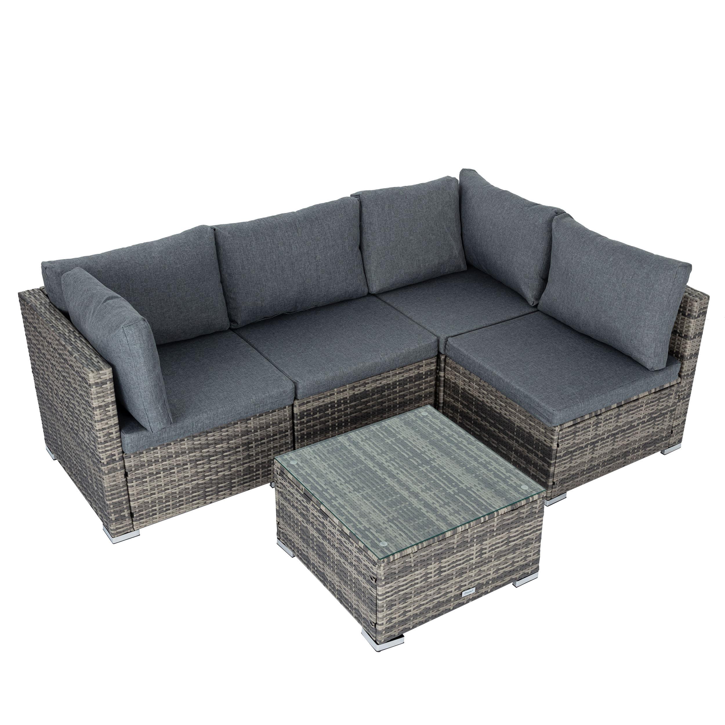 Outdoor Modular Lounge Sofa Bondi -Grey