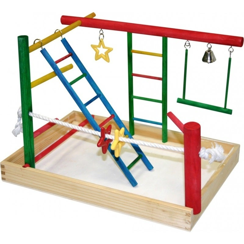 Medium Activity Centre Toy Play Gym for Birds by Avi One