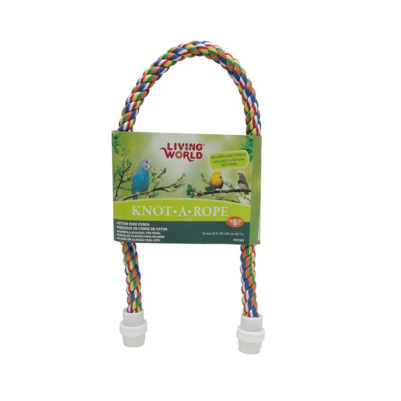 Cotton Rope Bird Perch 16mm x 65cm Knot-A-Rope (Living World)