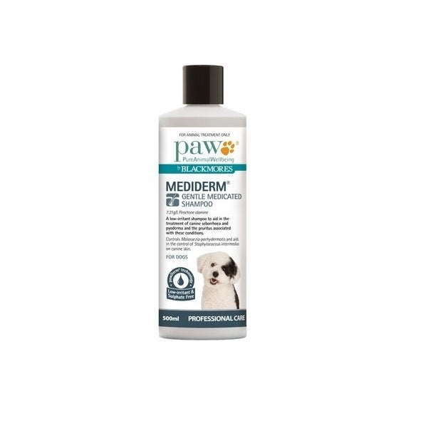PAW 500ml MediDerm Gentle Medicated Shampoo for Dogs - Blackmores