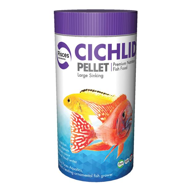 Cichlid Pellets - Large (3mm) 320g Pisces