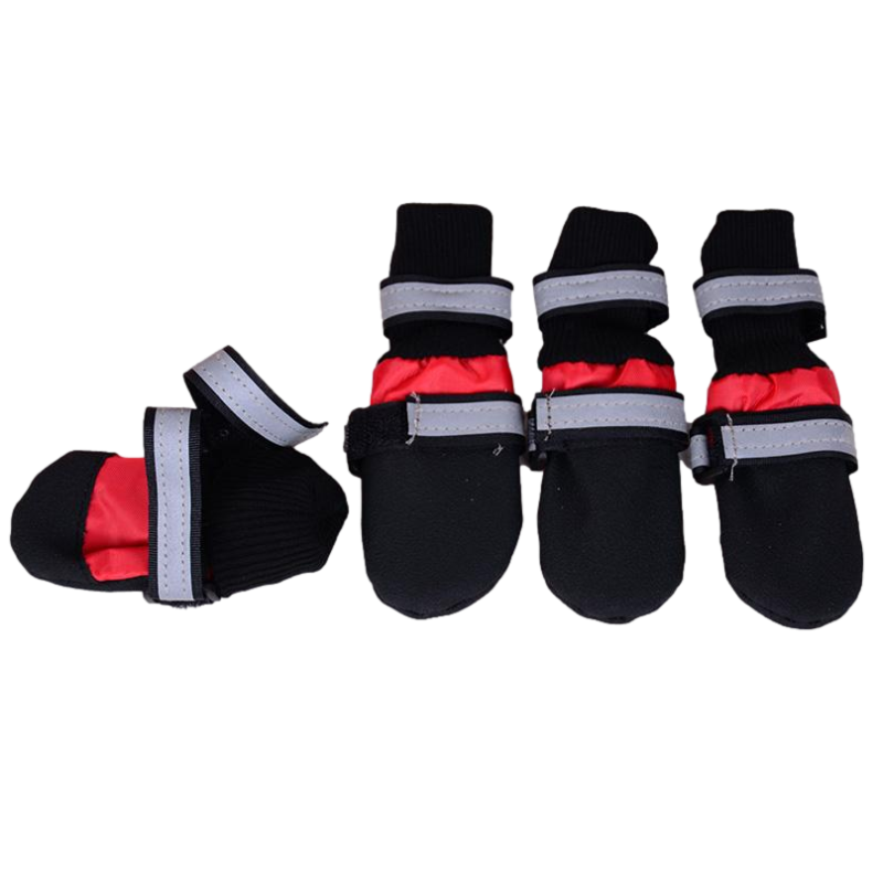 Extra Large Waterproof Dog Boots - Pack of 4 Boots (Prestige Pet) X-Large 9cm L x 8cm W)