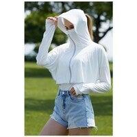 Okioki Hyaluronic Acid Women's Ice Sun Protection Coat UPF50+ Pink/Blue/White