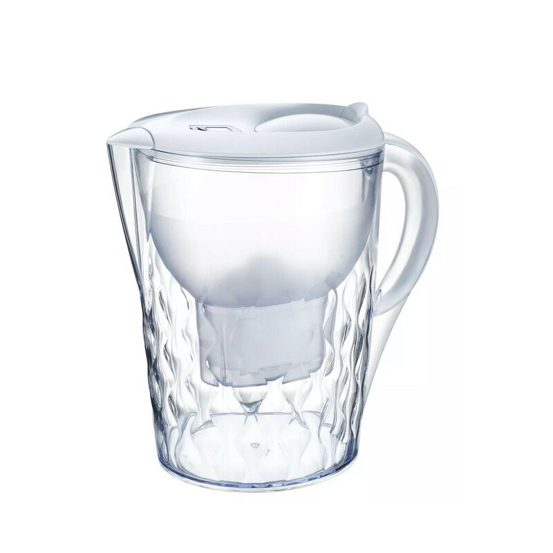 Bench Top Water Filter Pitcher Purifier Jug 3.5L Kettle Refill Portable White