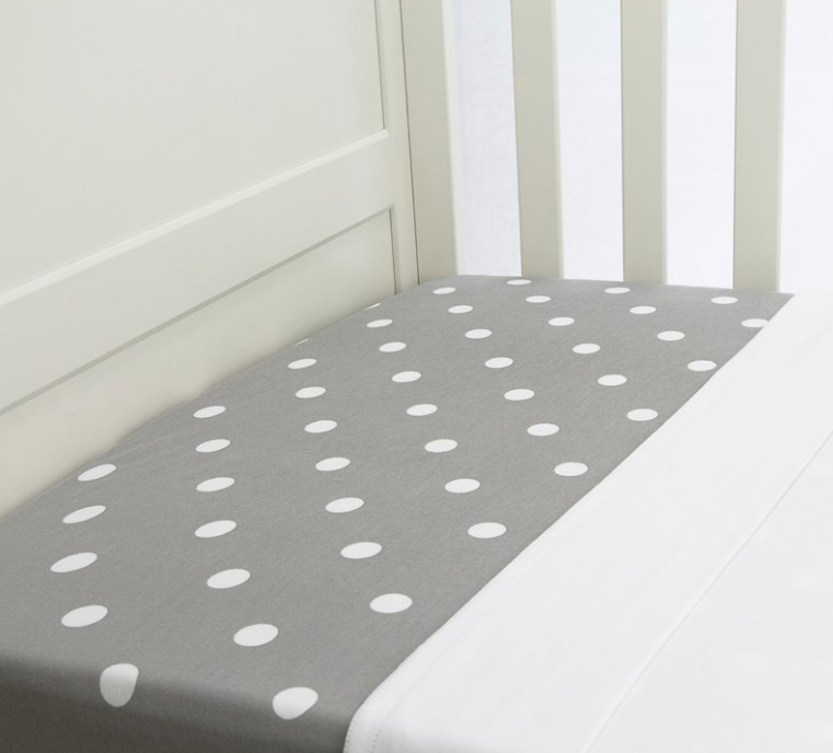 L'il Fraser Sheet Set - Grey With White Polkadot