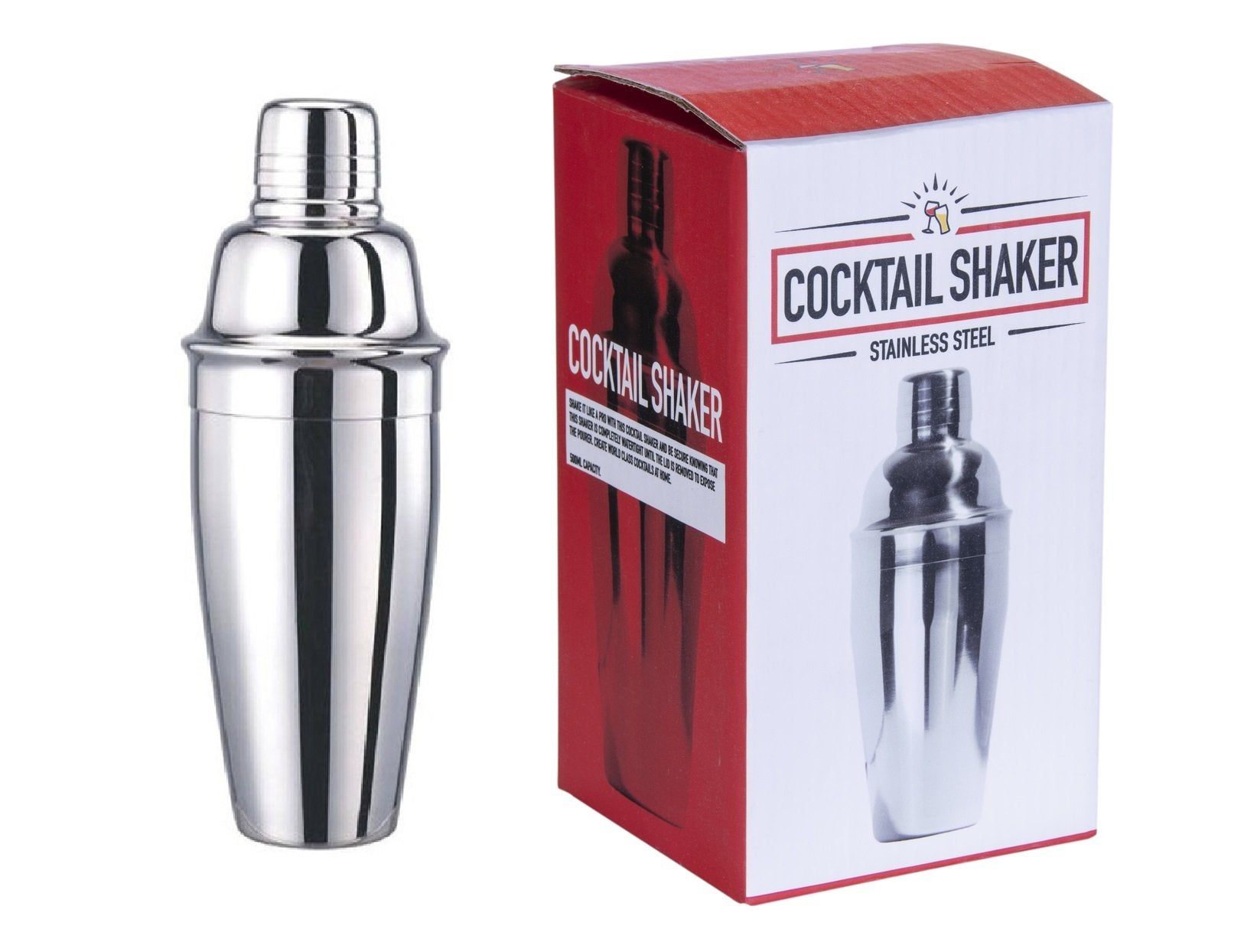 Party COCKTAIL SHAKER Stainless Steel Mixer Martini Spirits Bar Wine 500ml