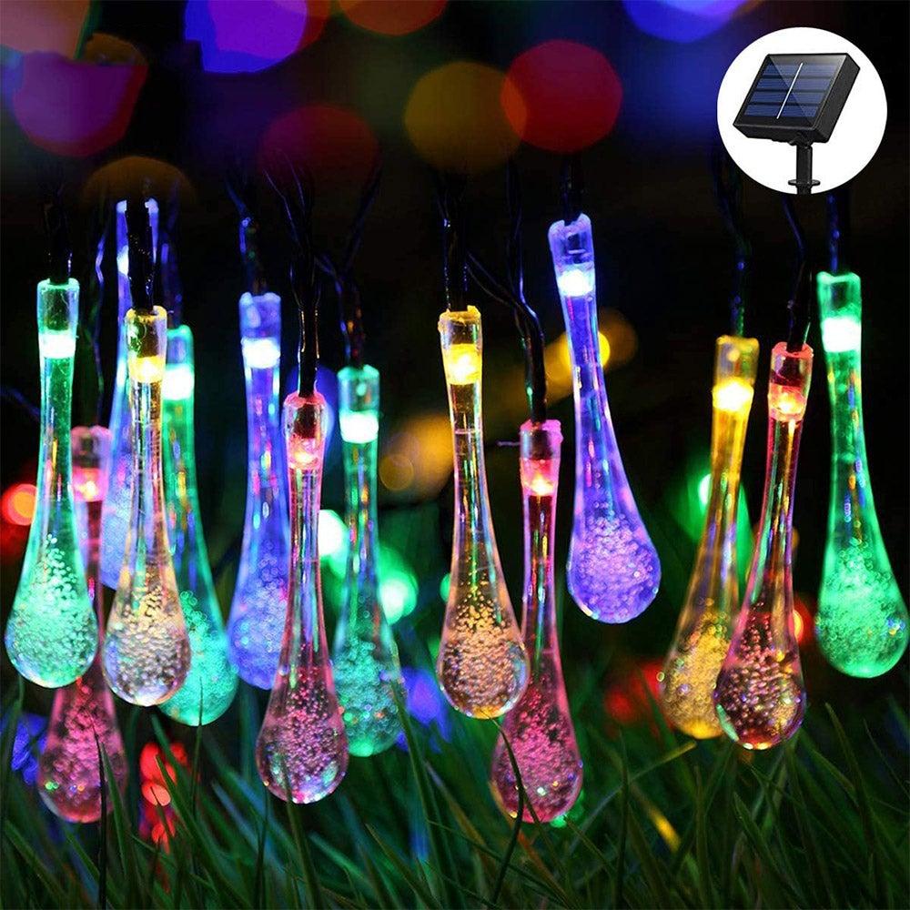 10m 100LED Water Drop Solar String Light Bubbles String Light LED Fairy Lights
