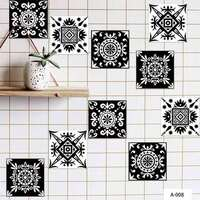 10pcs/Set 15x15cm Self Adhesive Tile Stickers Moroccan-style Wall Stickers