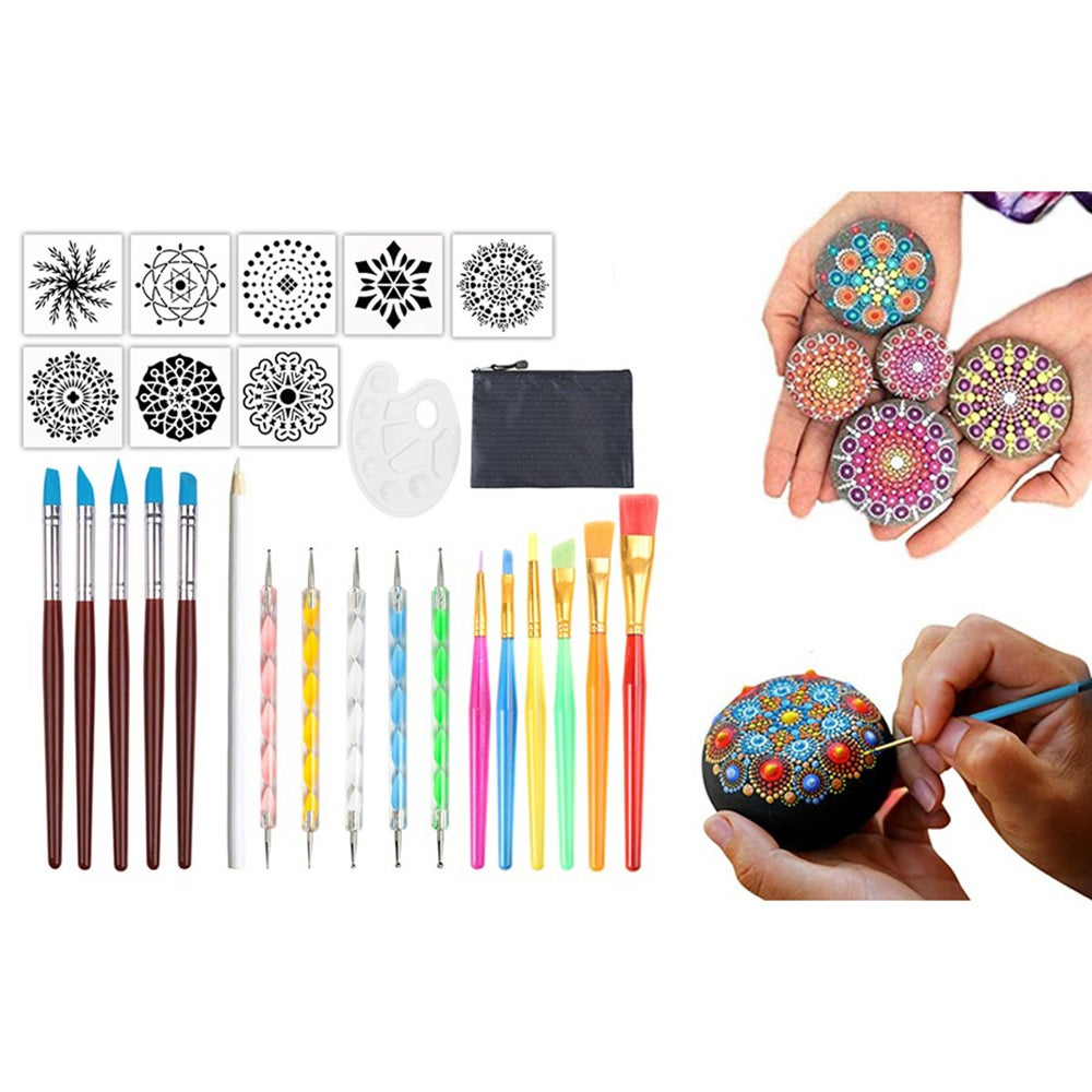 27-Piece Mandala Dotting Tools Rock Painting Kits Dot Art Pen Paint Nail Rocks