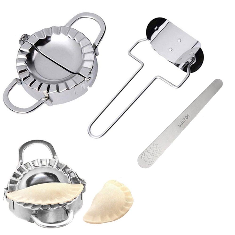 3pcs Dumpling Making Mould Stainless Steel Dumpling Maker Stuffing Spoon Dumpling Peeler Dumpling Pie Ravioli Making Molds