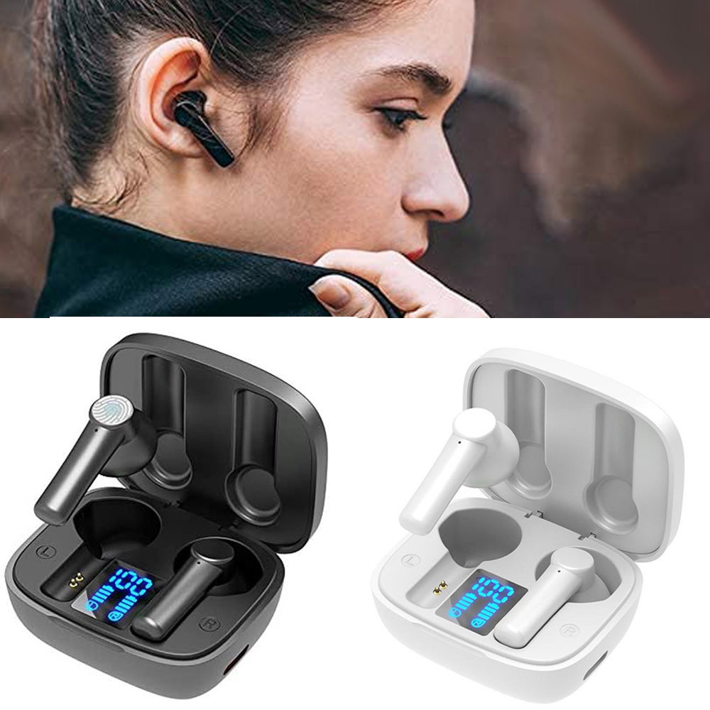LB-8 Wireless Earbuds Bluetooth 5.0 Headphones Hi-Fi Stereo Touch Control TWS Headset with LED Power Display Charging Case