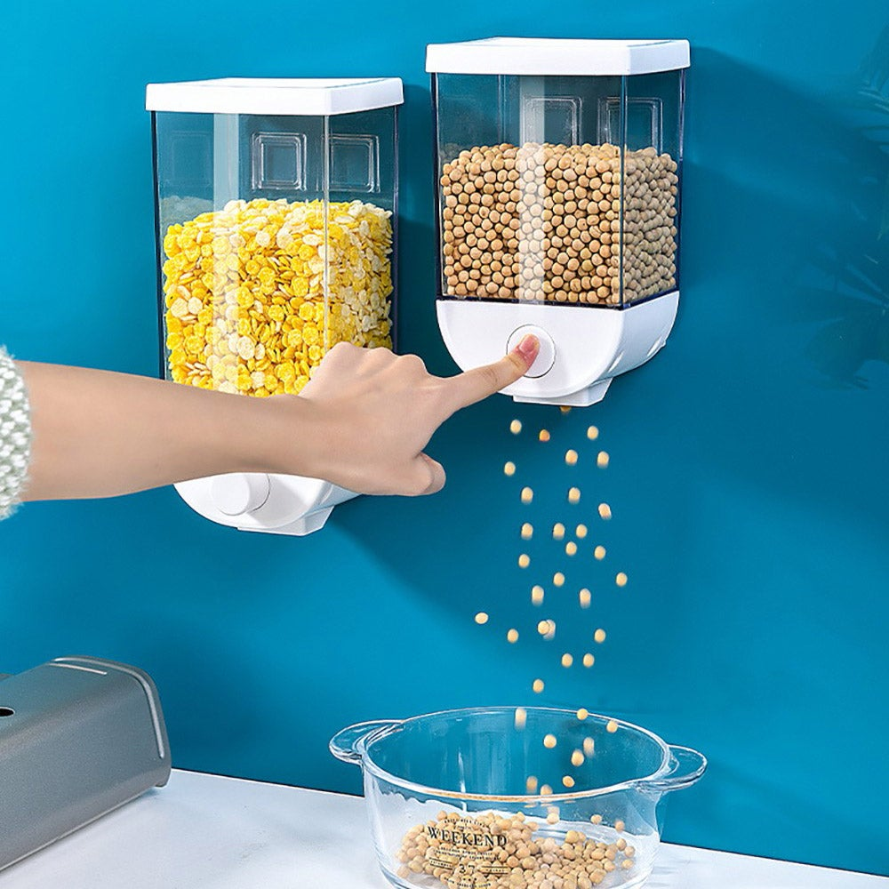 Wall Mount Cereal Dispenser Dry Food Storage