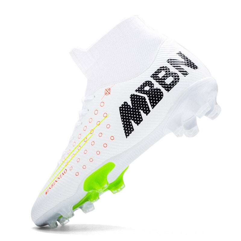 Men AG spike Soccer Shoes Football Cleats Soccer Boots light weight Teenager Training Sneakers Kids outdoor Sports Shoes for Unisex